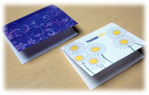 香りペーパーで作ったカード